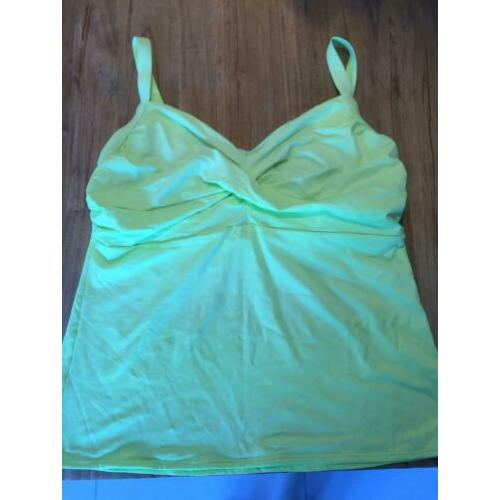 Nette S. Oliver beugel Tankini top maat 48 lime