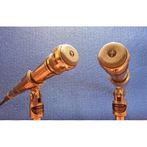2 x Turner S-500 , vintage dynamische microfoons